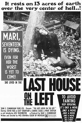 The Last House On The Left - 1972 - Movie Poster