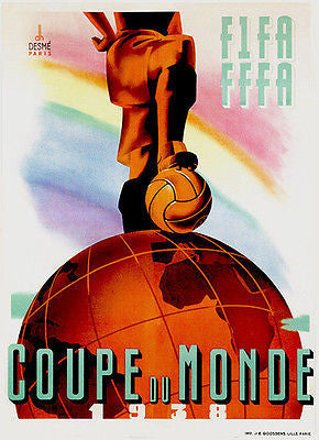 1938 World Cup - Promotional Advertising Poster
