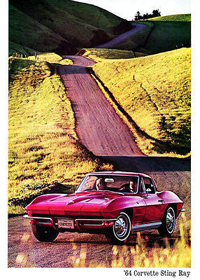 1964 Chevrolet Corvette Stingray - Promotional Advertising Poster