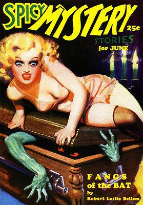Spicy Mystery Stories - June 1935 - Magazine Cover Magnet