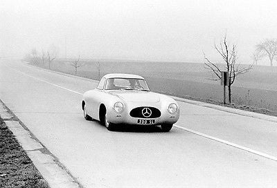 1952 Mercedes-Benz 300 SL on the Autobahn - Promotional Photo Poster