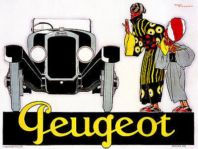 1925 Peugeot - Promotional Advertising Poster