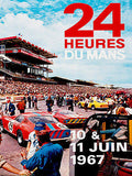 1967 24 Hours of Le Mans Race - Promotional Advertising Poster