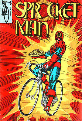 Sprocket Man - Comic Book Cover Poster