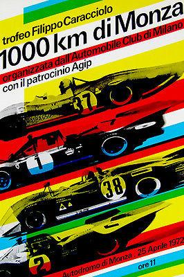 1972 Monza 1000 Km Race - Promotional Advertising Magnet