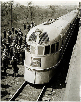 Burlington Zephyr Train - Late 1930's  - Photo Poster