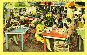 The Original Farmers Market - Hollywood - Vintage Postcard Magnet