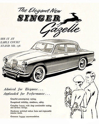 1956 Singer Gazelle - Promotional Advertising Poster