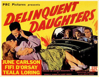 Delinquent Daughters - 1944 - Movie Poster