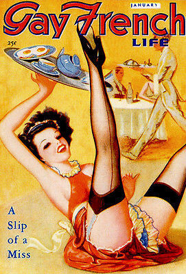 Gay French Life - January 1939 - Magazine Cover Poster