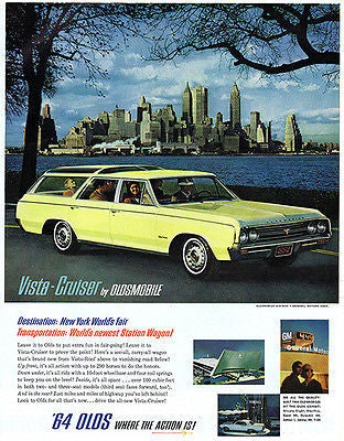 Promotional Advertising Poster 1964 Ford Mustang