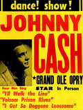 Johnny Cash - 1950's - Dance! Show! - Concert Poster