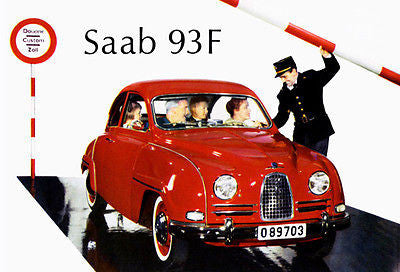 1960 Saab 93 F - Promotional Advertising Poster