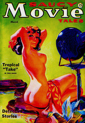Saucy Movie Tales - March 1936 - Magazine Cover Poster