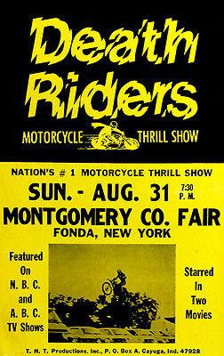 Death Riders Motorcycle Thrill Show - 1975 - Promotional Advertising Magnet