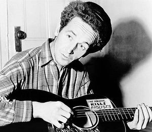 Woody Guthrie - This Machine Kills Fascists - 1940's - Portrait  Poster
