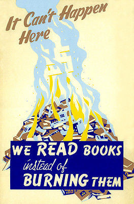 We Read Books Instead of Burning Them - Patriotic Art Poster
