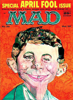 MAD Magazine #39 - May 1958 - Cover Poster
