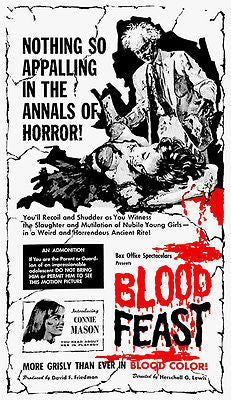 Blood Feast - 1963 - Movie Poster