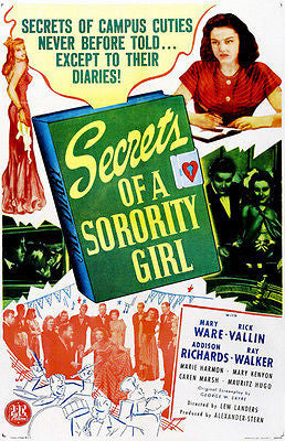 Secrets of a Sorority Girl - 1945 - Movie Poster