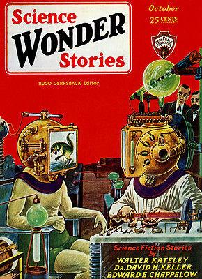 Wonder Science Stories - October 1929 - Magazine Cover Magnet