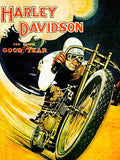Harley-Davidson - Goodyear Tires Racing - Promotional Advertising Poster