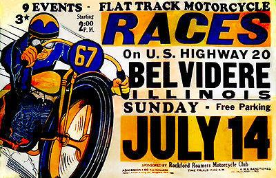 1946 Belvidere Illinois Flat Track Motorcycle Races - Promotional Mug