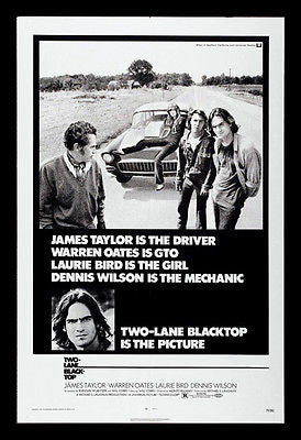 Two Lane Blacktop - 1971 - Movie Poster