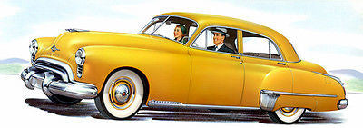 1949 Oldsmobile Futuramic - Promotional Advertising Poster
