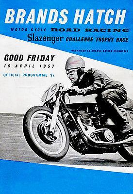 1957 Slazenger Challenge Trophy Motorcycle Race - Brands Hatch - Promotional Magnet