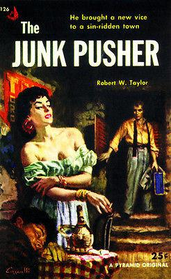 The Junk Pusher - 1954 - Pulp Novel Cover Magnet