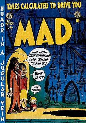 MAD Magazine #1 - October / November 1952 - Cover Mug