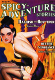 Spicy Adventure Stories - November 1936 - Magazine Cover Poster