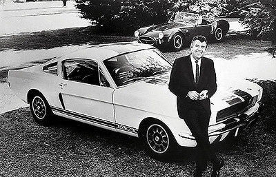 1966 Carroll Shelby and Ford Mustang Shelby GT350 - Promotional Poster