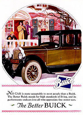 1925 Buick - Promotional Advertising Poster