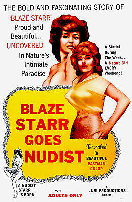 Blaze Starr Goes Nudist - 1962 - Movie Poster