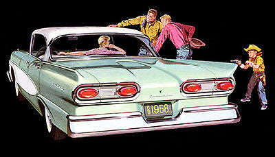 1958 Ford Fairlane - Promotional Advertising Poster