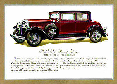 1930 Buick Coupe - Promotional Advertising Poster