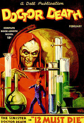 Doctor Death - 12 Must Die - February 1935 - Magazine Cover Poster