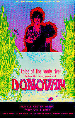 Donovan - Tales of the Reedy River - 1968 - Seattle - Concert Poster