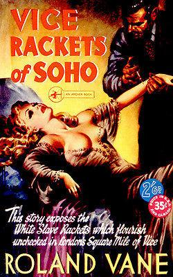 Vice Rackets of Soho - 1951 - Pulp Novel Cover Magnet
