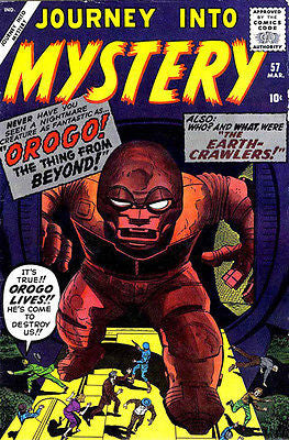 Journey Into Mystery #57 - March 1960 - Comic Book Cover Poster