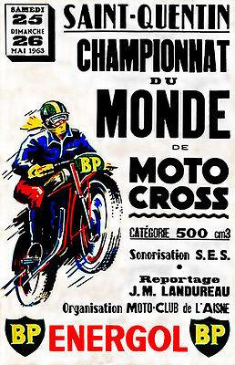1963 Saint Quentin Championnat de Moto Cross - Promotional Advertising Magnet