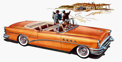 1955 Buick Convertible - Promotional Advertising Poster