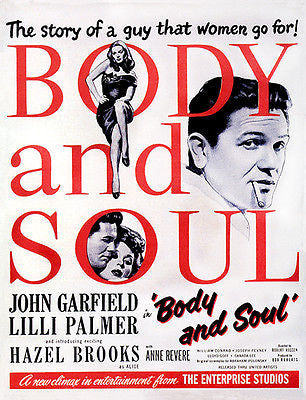 Body and Soul - 1947 - Movie Poster