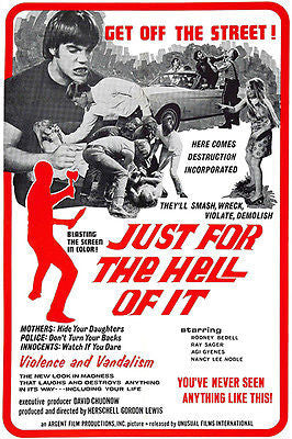 Just For The Hell Of It - 1968 - Movie Poster