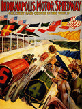 1909 Indianapolis Motor Speedway Race - Promotional Advertising Poster
