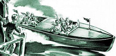 1932 Chris Craft Boats - Promotional Advertising Magnet