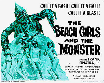The Beach Girls and the Monster - 1965 - Movie Poster