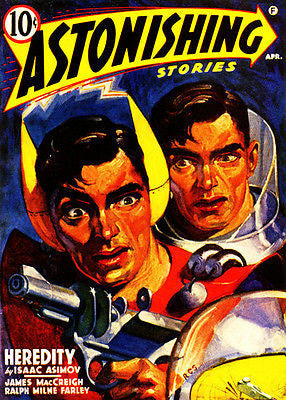 Astonishing Stories - April 1941 - Magazine Cover Poster